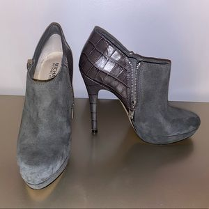 Michael Kors Grey Suede Ankle Booties